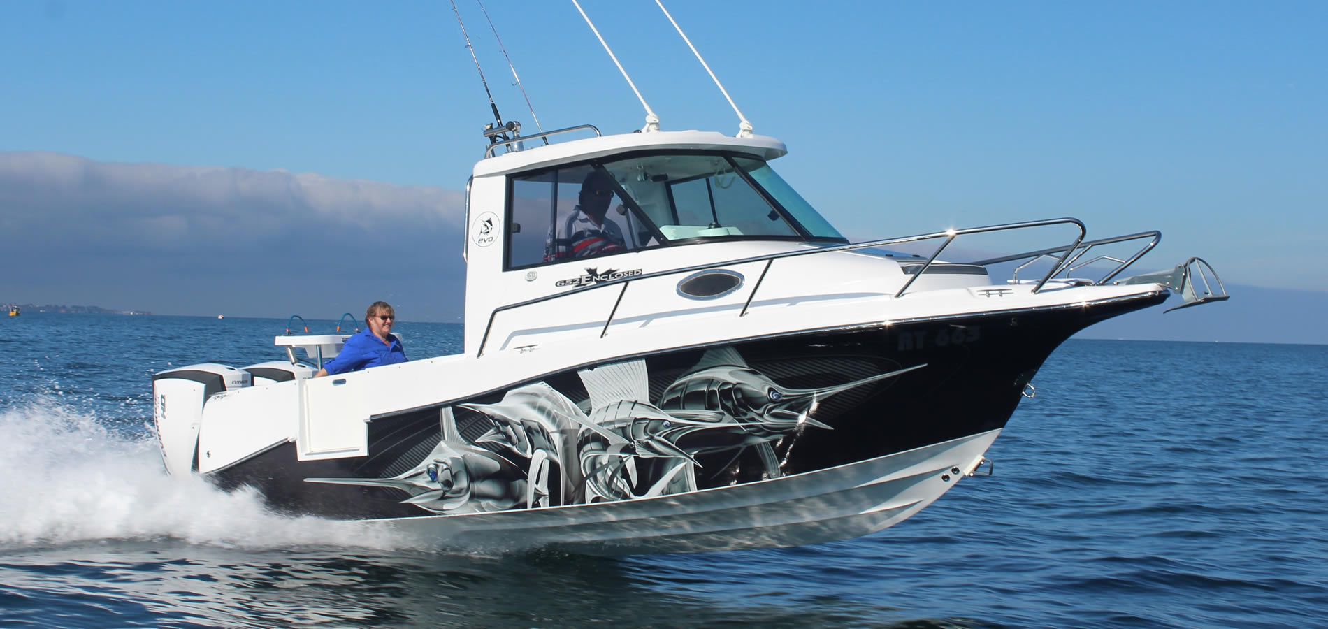 Evolution boats new award winning fibreglass offshore for Offshore fishing boats